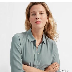 Everlane relaxed silk shirt